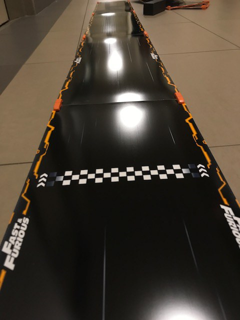 Setting up tracks, we took off the guardrails for the Anki Overdrive Fast & Furious edition.