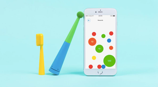 Benjamin Brush says its links to your smartphone to play music as you brush.