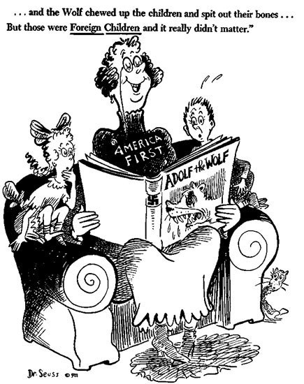 Image result for dr seuss anti nazi