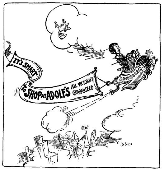 8 of dr seuss s best political cartoons  following his anti isolationism seuss was a big critic of the leader of the isolationist movement america first charles lindbergh