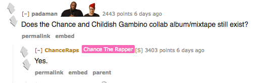 We Learned That A Chance X Childish Gambino Mix Tape Exists