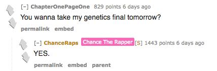 Chance Volunteered To Take A Reddit Users Genetics Final