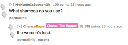 We Learned That Chance DGAF About Gender Roles