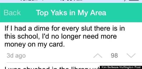 Yik Yak: A College Cyberbullying Epidemic