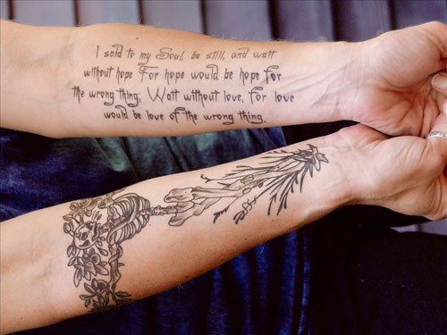 21 Awesome Literary Tattoos That Celebrate National Poetry Month
