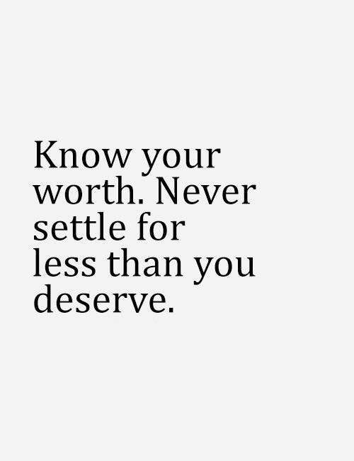 Why You Should Know Your Worth