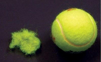 Fuzz On A Tennis Ball