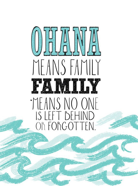 3 Ohana Means Family No One Is Left Behind Or Forgotten Lilo Stitch