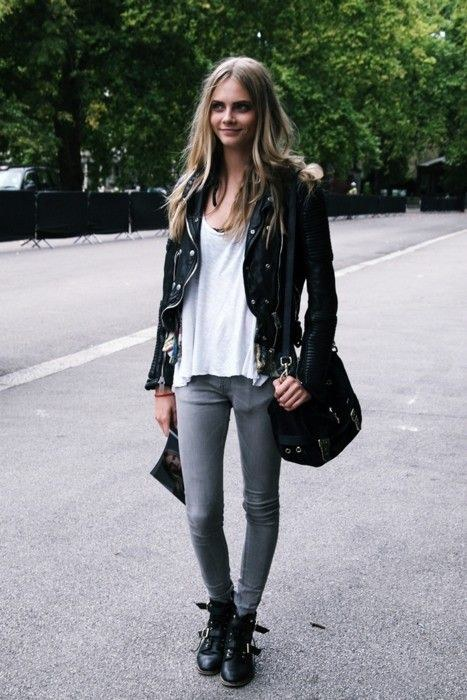10 Ways To Style A Black Leather Jacket