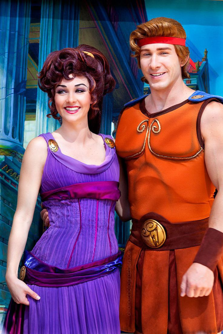 these outfits might be a bit harder to come up with but for couples who are very into sewing and making their own very detailed costumes hercules and meg