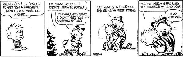 Calving and hobbs comic strip