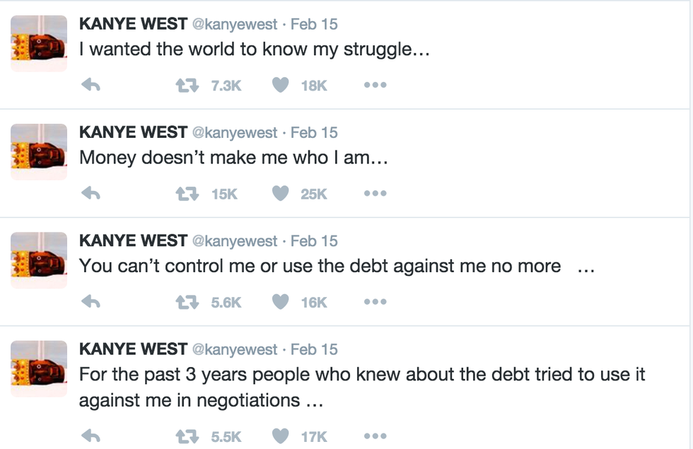 cfef8576dcea Why is Kanye in debt  He s a successful rapper with a huge fanbase