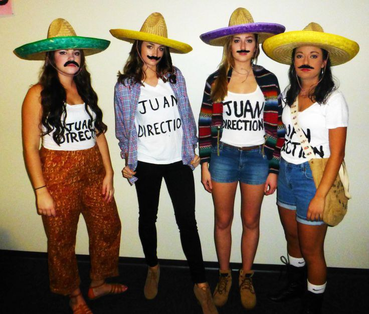 A fun twist on the fangirled boy band u201cOne Directionu201d...Just get a group of friends some sombreros and mustaches and you will have a fiesta!  sc 1 st  Odyssey & 12 Original Halloween Costume Ideas