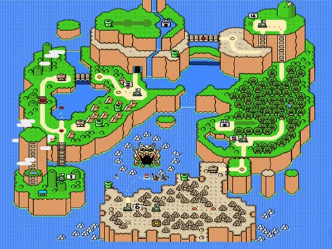 unlike its predecessors or later installments super mario worlds overworld was connected as one large world map rather than separate worlds traveled