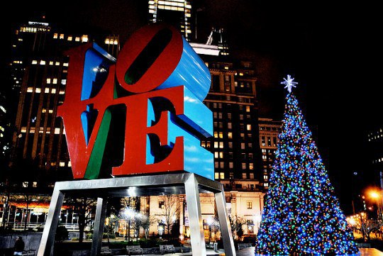 christmas village is the holiday transformation of love park in center city philadelphia this outdoor holiday market consists of over 60 wooden booths