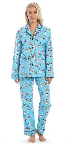 5 christmas pajamas youll fa la la la love 4 notch collar flannel pajama set by kohls sciox Images