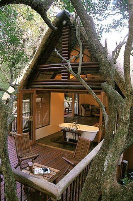 Be Creative In This Peaceful, Open Air Treehouse.