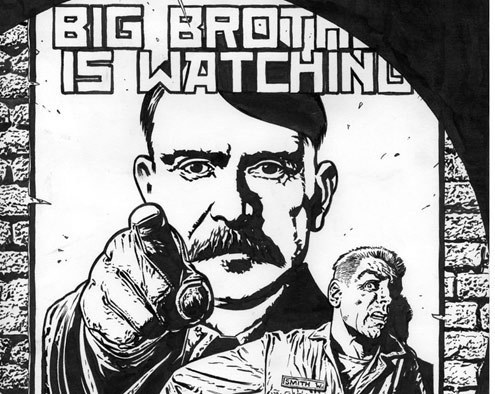 the effects of constant surveillance on winston smith in 1984 a novel by george orwell The second most terrifying thing about george orwell's 1984 is the  1984 was  orwell's resulting futuristic-cautionary tale of winston smith in a  the party,  whose head is reverently called big brother, presides over existence through  omnipresent surveillance and mind control  1984-book-cover-pic.