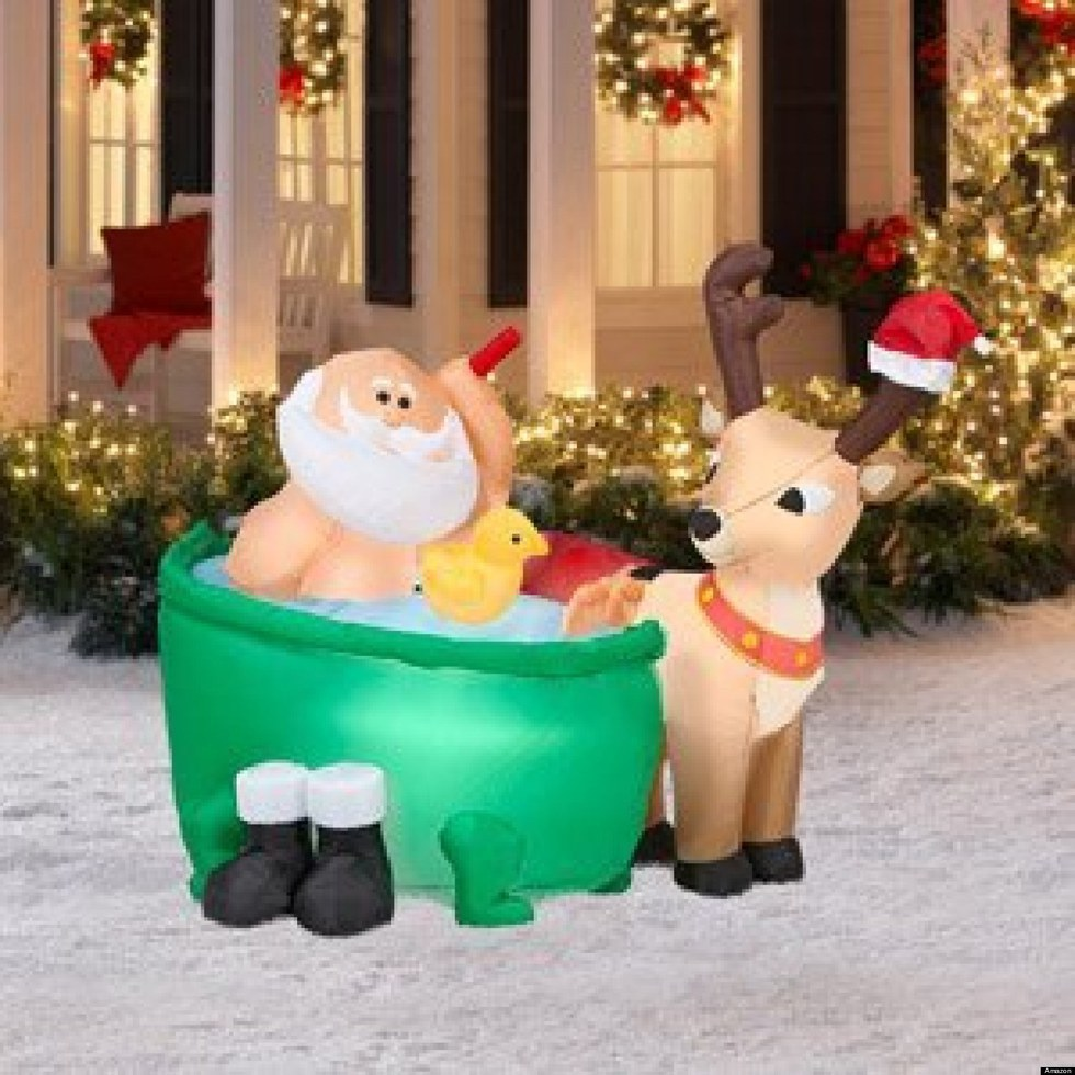 Santa Claus Lawn Decorations: 11 Christmas Inflatables To Spice Up Your Yard
