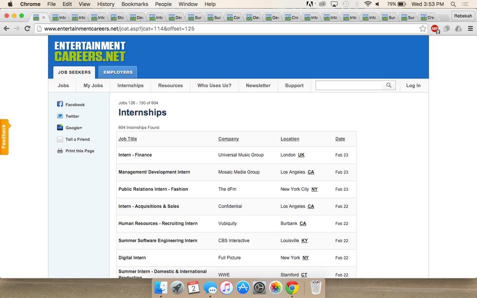 applying for internships