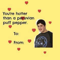 While Youu0027d Think Thereu0027d Be A Valentineu0027s Card Of Drake Getting All The  Ladies, This Beautiful One Of Josh And The Peruvian Puff Peppers Is Much  Better, ...