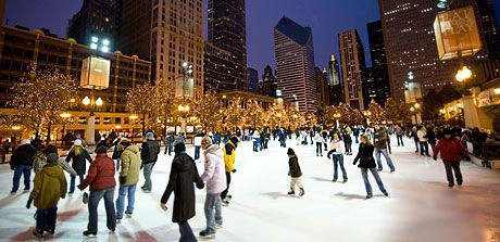 if youre looking for some way to woe the girl or just hoping to go on a date get out or rent some ice skates to go ice skating at millenium park