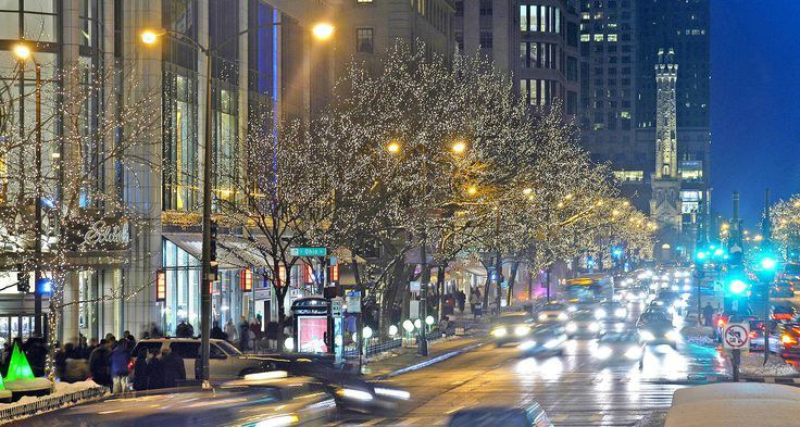ah one of the perfect spots and things to do during christmas in chicago from looking at all the lights outdoors and clothes in the windows