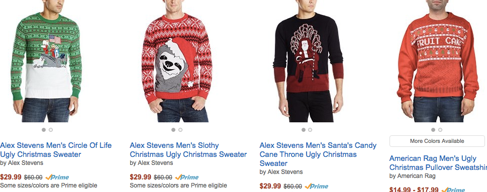 Best places to get ugly christmas sweaters