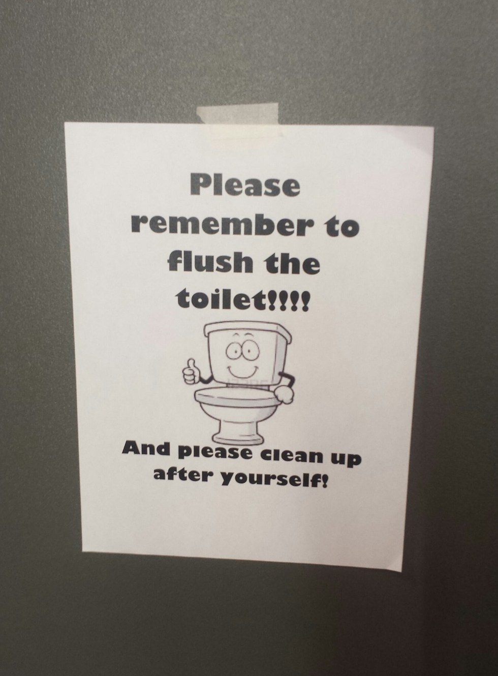 5 ways college students are like kindergartners - Clean up after yourself bathroom signs ...