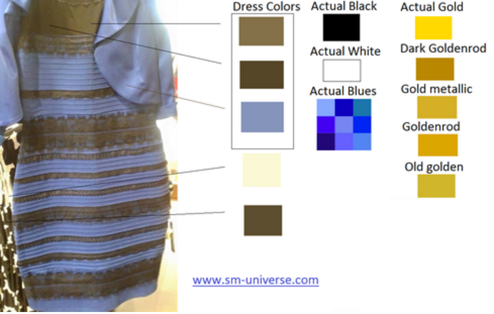 Gold and white dress actual color