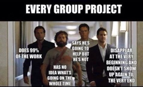Different Types Of People Who You'll Work On A Group Project With In School