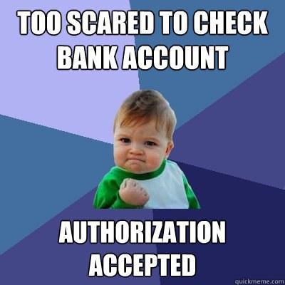 73558611ad92 Thoughts everyone has while shopping at charming charlie jpg 400x400 Bank  sales meme