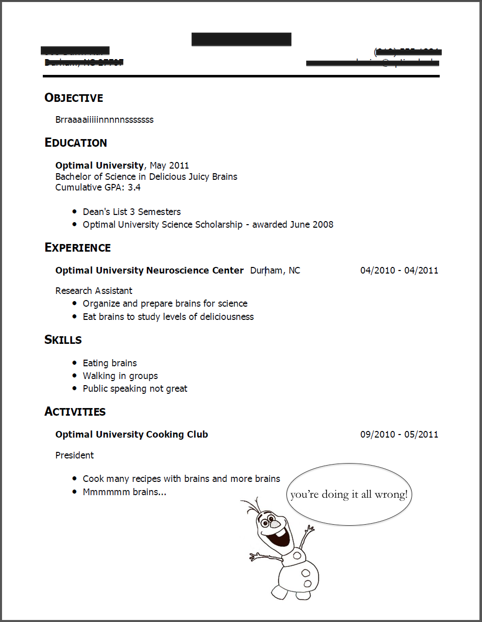 what not to put on a resumes - Boat.jeremyeaton.co