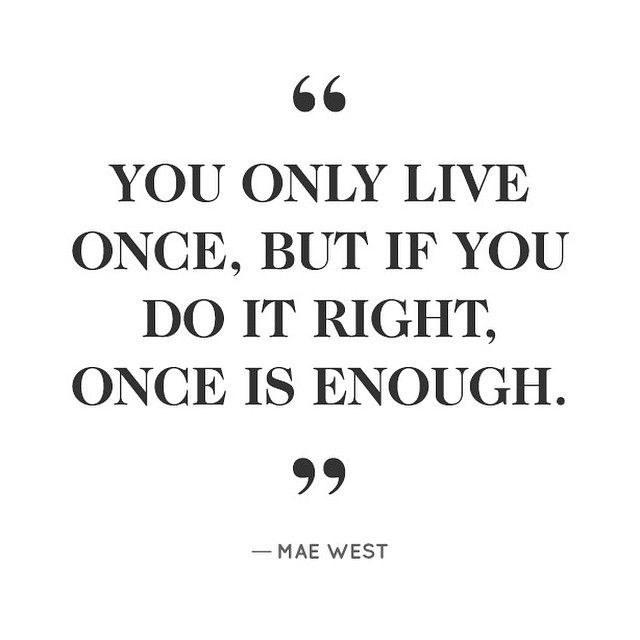 We live separate lives