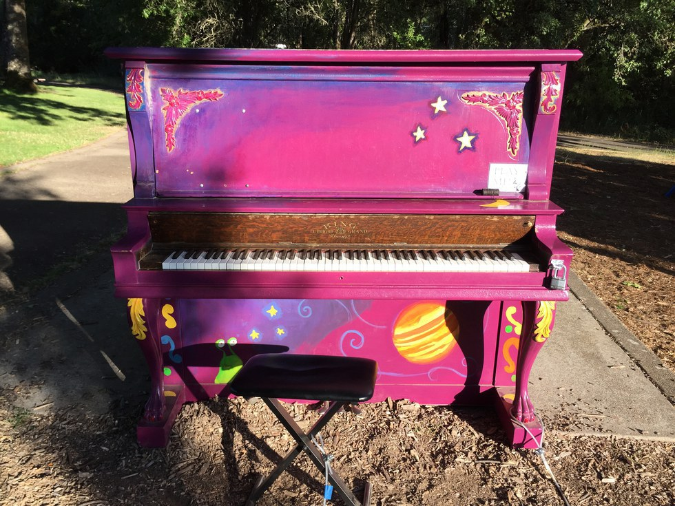 Pianos Placed Around The City Bring Awareness To Music And Art Programs
