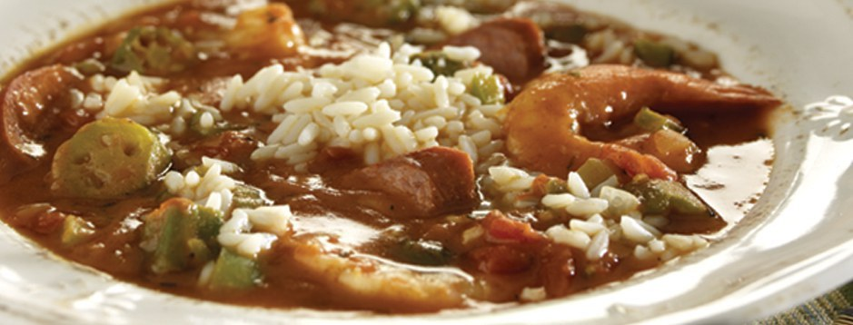 gumbo a southern delicacy Seafood gumbo seafood gumbo, packed with shrimp, oysters, red snapper, and, especially louisiana blue crab, is a classic south louisiana dish ben thibodeaux, chef de cuisine of dickie brennan's tableau in le petit theatre, says, our warm, fertile waters help our blue crabs get nice and fat, which lends a sweetness to the seafood gumbo.