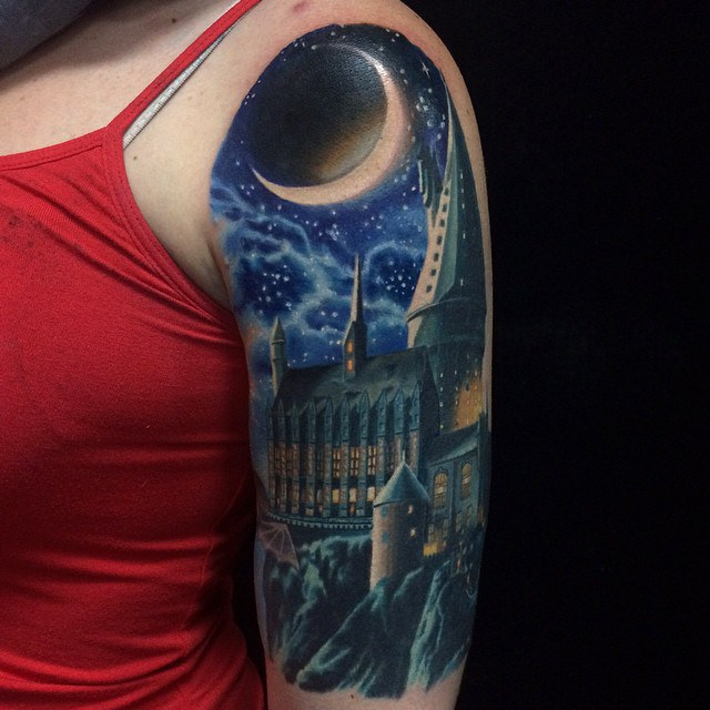 Top 10 most clich harry potter tattoos for Harry potter sleeve tattoo
