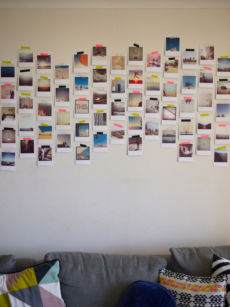 How To Decorate Your Room With Polaroid Pictures