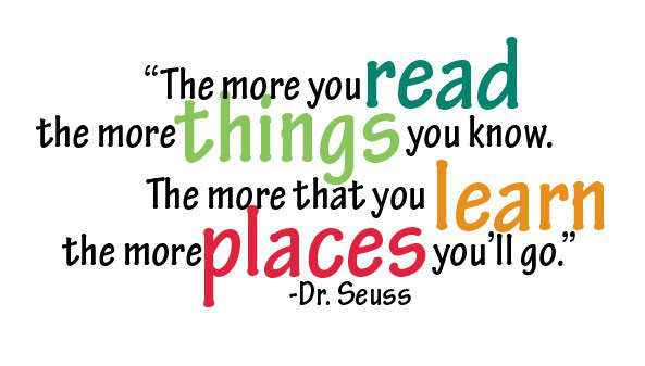 Image result for dr. seuss quotes on reading