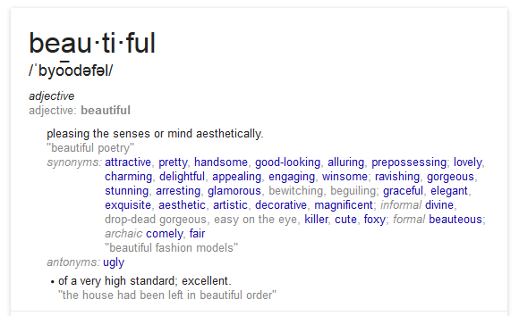 Find Your Synonym For Beautiful