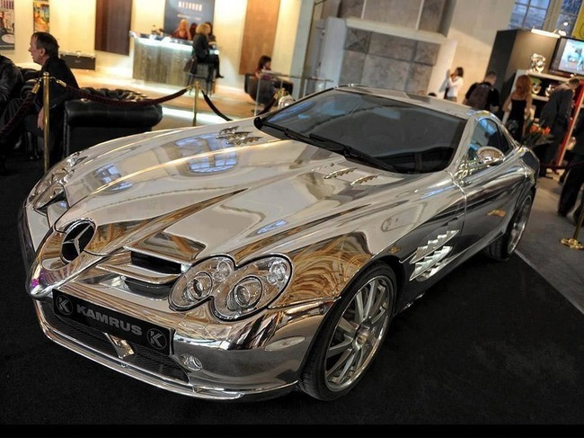 Lovely Pure White Gold Mercedes