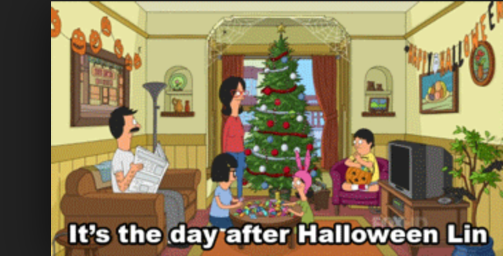 i thought to my self halloween just got over doesnt november come after october christmas lights went up in a clatter and i couldnt keep up with what - When Did We Start Celebrating Christmas