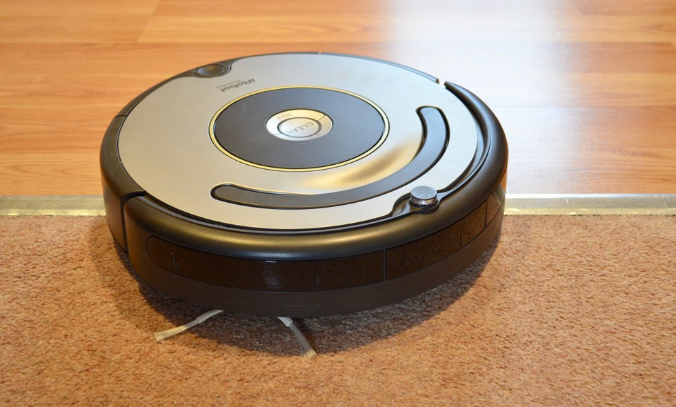 The Roomba adjusts how it cleans when it detects a different surface