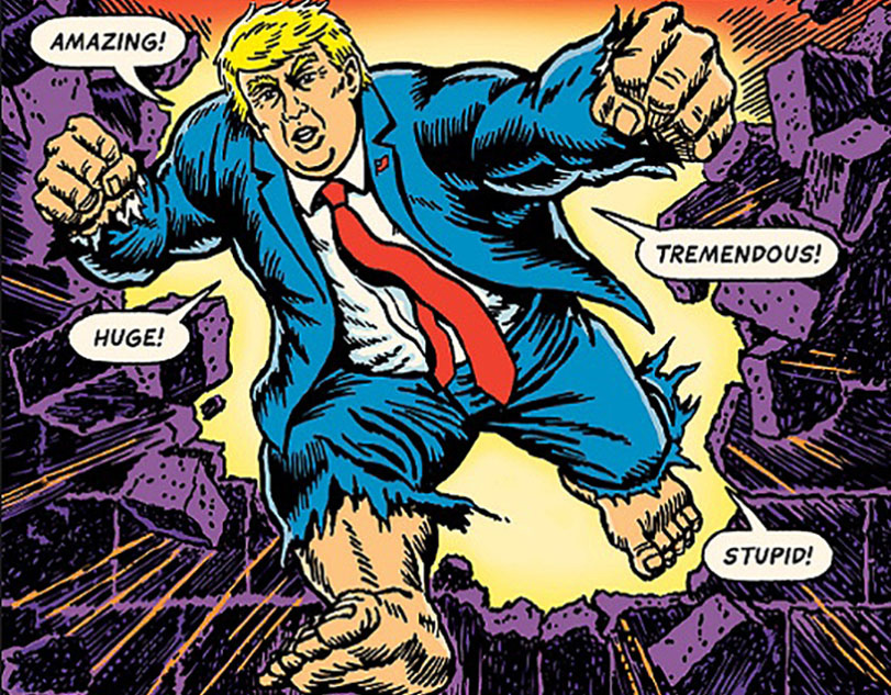 On the Cathartic POW!er of Appropriating Trumpisms