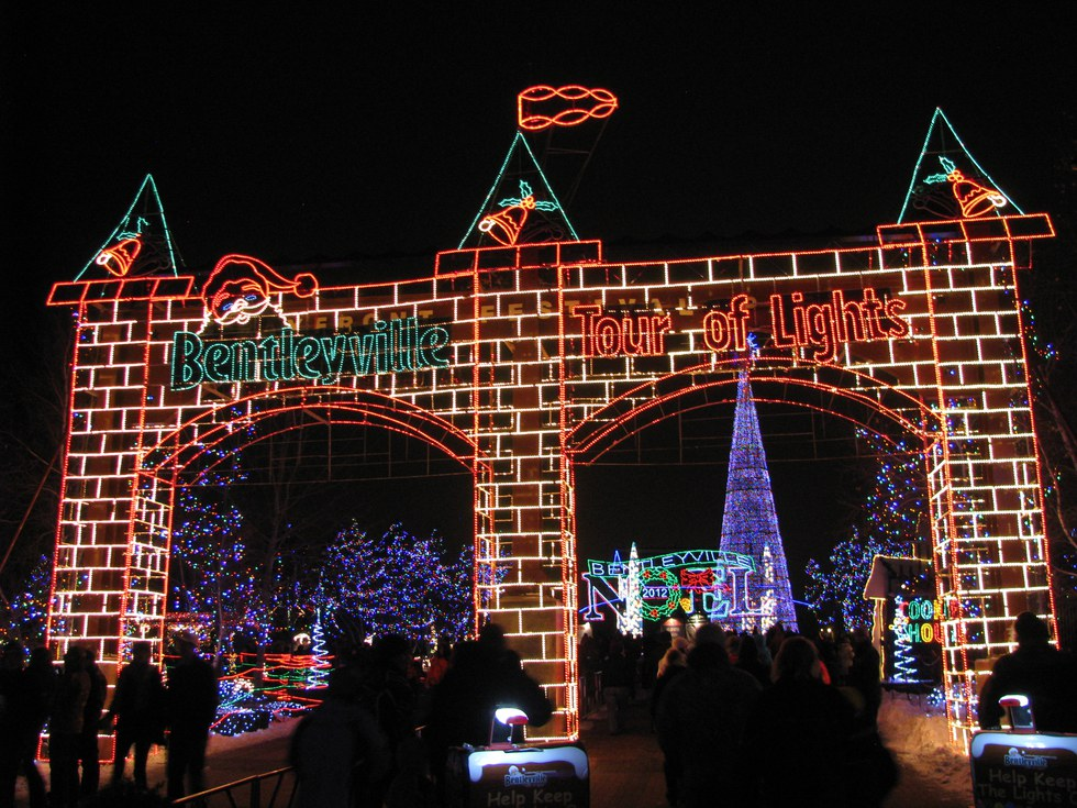 if you love christmas lights then bentleyville is the place for you this walk through light display showcases more than four million lights right next to - Best Places To Visit At Christmas