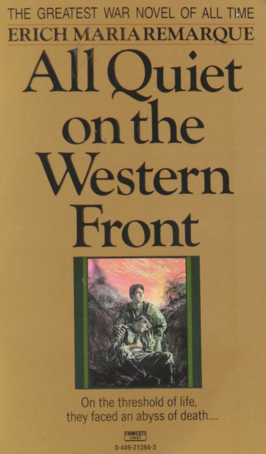 an analysis of the events of world war one in the novel all quiet on the western front by erich mari All quiet on the western front by erich maria remarque (book analysis): detailed summary, analysis and in the extraordinary world war two world war one.