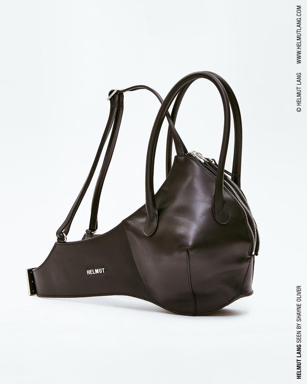 Black Bra Style Handbag In Leather By Helmut Lang Available On Helmutlang