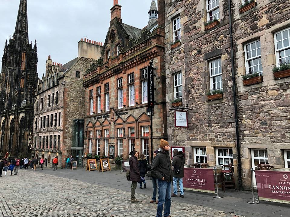 The Royal Mile in Scotland