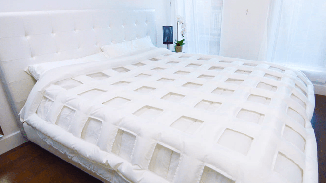 Get your side of the bed to the perfect temperature before you snuggle in the sheets.