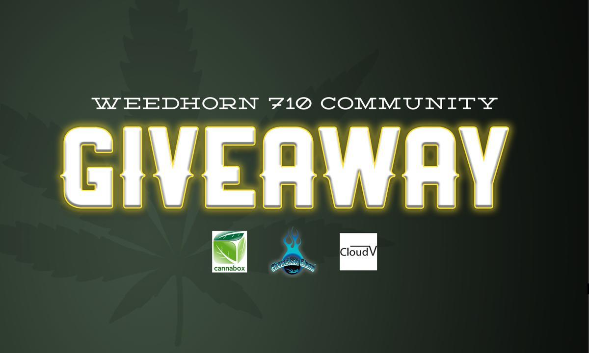 Giveaway: CannaBox/Chameleon Glass/CloudVape 710 Community Celebration